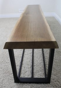 Live edge Walnut Bench $380